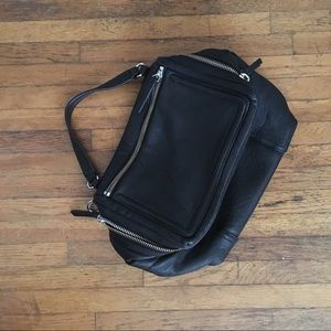 Vince Camuto leather patch bag